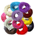 5M Real Leather Necklace Charms Rope String Cord Round 2mm For Jewelry DIY