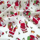 CREAM father Christmas / Santa  Fabric 100 % cotton  per 1/2 mtr or per FQ