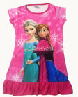 Disney Frozen Elsa Anna Children Kids Girls Dress Pajama Skirt 3-10 Yrs Hot Pink