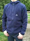 Mens Trespass S Leadville Microfleece Navy Blue Full Zip Hooded Fleece Jacket