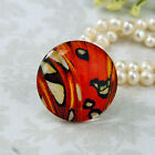 25mm 30mm butterfly wing red black cab Handmade glass Photo cabochon 30B003