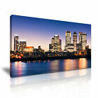 LONDON Canary Wharf Skyline Canvas Framed Print ~ More Size
