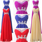 Formal Long Evening Gown Party Prom Homecoming Dress STOCK Size 6 8 10 12 14 16