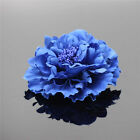 Artificial Silk Peony Flower Heads Hair Clip Corsage Pin Wedding Party Decorion