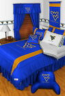West Virginia Mountaineers Comforter Sham & Pillowcase Twin to King Size Sets