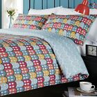 Retro Duvet Cover, Houses, Luxury 180 Thread Count, Single Double King Super