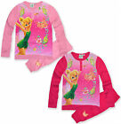 Girls Disney Fairies Tinkerbell Pyjamas Kids Pjs Set Nightwear New Age 3-8 Years