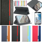 Premium PU Leather Wallet Stand Case Cover For Google Motorola Nexus 6 XT1100