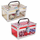 JAPAN HELLO KITTY PLASTIC VANITY CASE STORAGE BOX CARTOON JEWELRY BOX