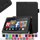 Kindle Fire HD 7 4th Gen Tablet (2014 Oct Release) Leather Case Cover Wake/Sleep