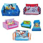 Choose from: Childrens Inflatable or Foam Flip Out Sofa, Bed, Chair - Characters