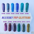 BLUESKY UV/LED GEL NAIL POLISH YYF GLITTER SOAK OFF RANGE 1ST CLASS FREE POST