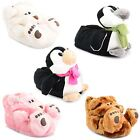 Womens Ladies Comfy Cosy Funky Christmas Gift Animal Novelty Slippers Size