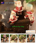 Christmas Gift Animals Santa Claus Resin Craft Set Home Office Pot Plant Decor