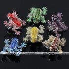 Fashion Frog Cute Animal Crystal Beads Cocktail Elastic Stretch Finger Ring US9