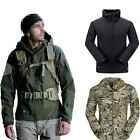 Mens Military Tactical Jacket Outdoor Fleece Climbing Hoodie Winter Coat Outwear