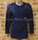 MOD RAF SURPLUS BLUE COMBAT JUMPER,WOOLLY PULLOVER-ROYAL AIR FORCE,ELBOW PATCHES