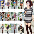 CHEAP SALE Women's Loose Christmas Tops Long Blouse Jumper Sweater Pullover Top