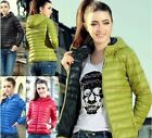 New Womens Winter Warm Candy Color Thin Slim Down Coat Jacket Overcoat Parka