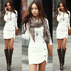 Women Sexy Long Sleeve Sheath Bodycon Blouse Evening Party Cocctail Winter Dress