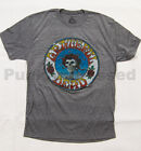 Grateful Dead - Skull and Roses DISTRESSED - soft heather t-shirt - Official Mer