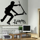 EXTRA LARGE PERSONALISED STUNT SCOOTER WALL STICKERS POSTER DECAL