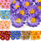 50pcs Gerbera Daisy Head Artificial Silk DIY Flower for Wedding Decoration New