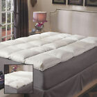 NEW Super Snooze 5-inch 230 Thread Count Baffled Featherbed Bedding Cozy Set