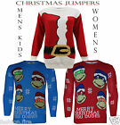 Womens Mens Kids Ladies Novelty 70s Vintage Santa Christmas Jumpers Sweater Top