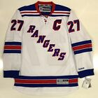 "RYAN MCDONAGH NEW YORK RANGERS REEBOK PREMIER WHITE JERSEY W/ CAPTAINS ""C"""