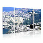 RIO 1 Brazil South Americam Cityscape 3B Framed Print Canvas Wall Art~ 3 Panels