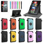 "2014 PU Leather Folio Case Cover Stand For Amazon Kindle Fire HD 6"" + Bundle"