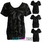 Womens Glitter V Neck Xmas Top Ladies Short Sleeve Shiny Fitted Top Blouse Tunic
