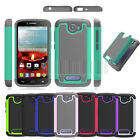 Rugged Hybrid Armor Hard Impact Case Cover For Alcatel One Touch Fierce 2 7040T
