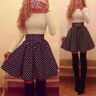 New Women Bandage Bodycon Long sleeve Polka Dot Sexy Cocktail Mini Dress