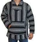 Large Hoodie Baja Hippie Surfer Mexican Poncho Sweater Assorted Colors