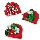 Mud Pie Holiday Felt Flower Hat  0-12 Months - DISCONTINUED