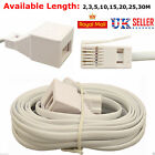 3M 5M 10M 15M 20M ADSL RJ11 Broadband Modem Extension Cable Lead Male to Female