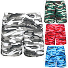 Mens Womens Military Camouflage Elastic Waist Band Sports Casual Shorts Pants