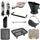 Fire Fireplace Accessories Set Grate Fender Log Basket Guard By Home Discount