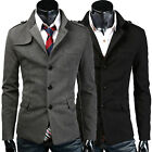 HOT SALE  WINTER JACKET Mens Single Breasted Trench Coat Parka Peacoat Blazer