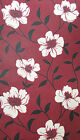 GRAHAM & BROWN Fresco WALLPAPER Crimson Red Cream LUCIE Floral Feature Wall