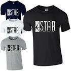 STAR Laboratories T-Shirt SP The Flash New TV Series S.T.A.R. Labs Mens Fan Top