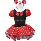 Minnie Mouse XMAS HALLOWEEN Girl Birthday Party Tutu Costume Dress Up Cosplay