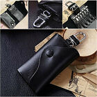 Genuine Leather Wallet Men's Car Key Holder Accessory 2 Key Chain Wallet Case