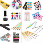 13in1/23in1 Nail Art Acrylic Set Liquid Powder Glitter False Tips Brush Clipper