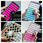 Flip Wallet Leather Case Bling Crystal Diamond Cover For Samsung Galaxy S3 S4 S5