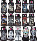 Women shirt Painting Cool Pattern 3D Skull bone Camisole print Vest Top 15models