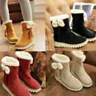 Womens Ladies Shoes Winter Warm Snow Boots Plus Size Black  Brown New Fashion