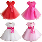 Flower Bow Girl Princess Pageant Wedding Bridesmaid Party Communion Formal Dress